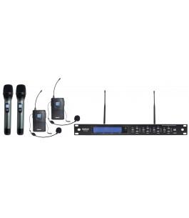 Kit 4 radiomicrofoni UHF -...